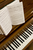 hymbook and piano