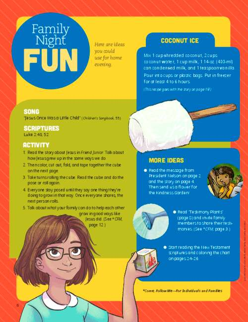 activity and recipe for family night