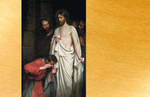 Resurrected Christ with Thomas