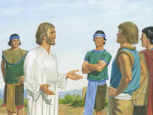 Jesus talking to people