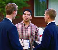 missionaries talking