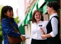 sister missionaries talking