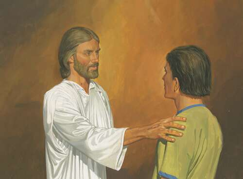 Christ with disciple