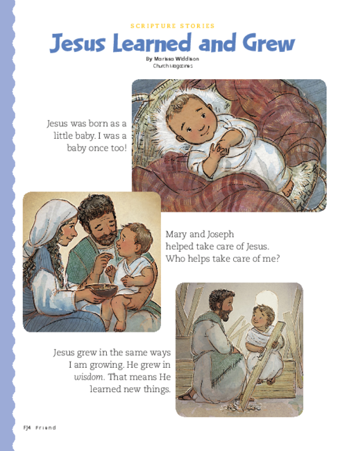 Jesus as a baby and small child
