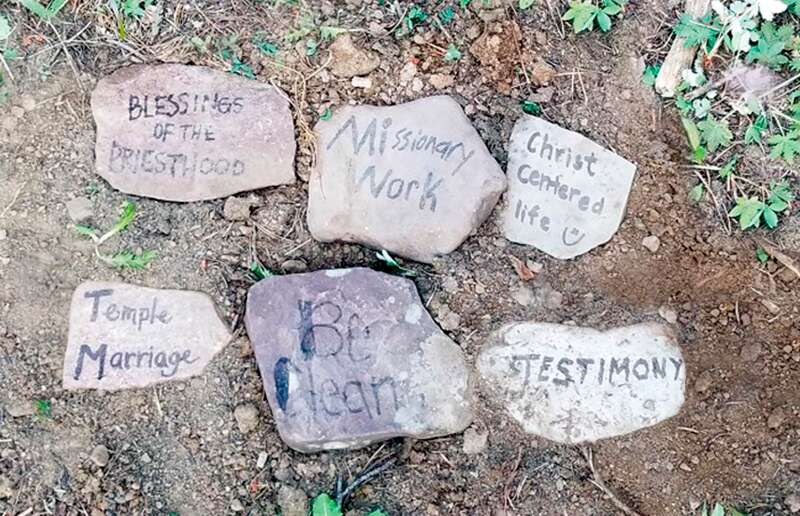Messages written on stones