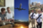 composite of young man with mother, airplane, missionaries