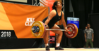 Kuinini in a weightlifting competition