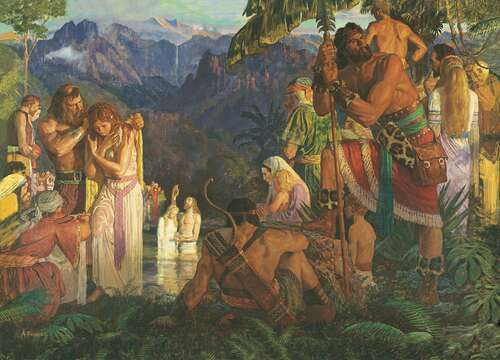 Alma Baptizing in the Waters of Mormon