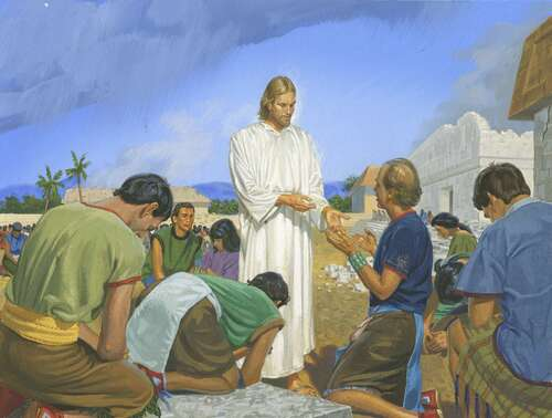 Jesus with people