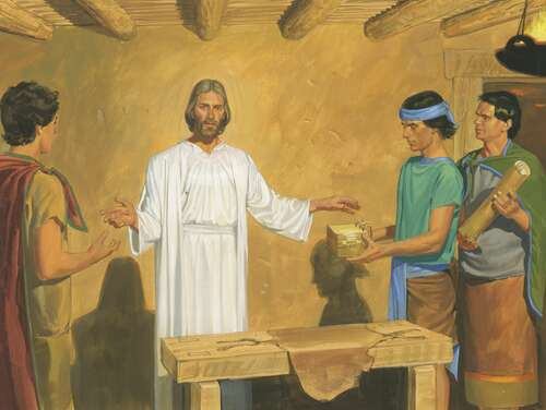 Christ talking about scriptures