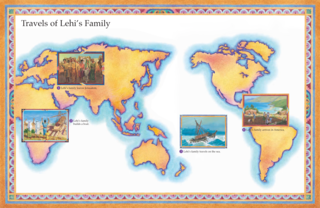 map, travels of Lehi's family