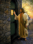 Christ knocking on a door